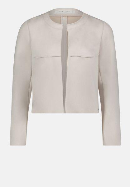 Betty & Co Blazer Jacke ohne Verschluss Blazer beige Damen